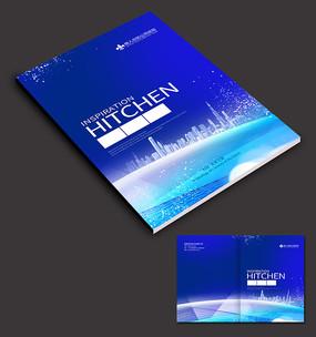 蓝色科技画册封面封皮设计