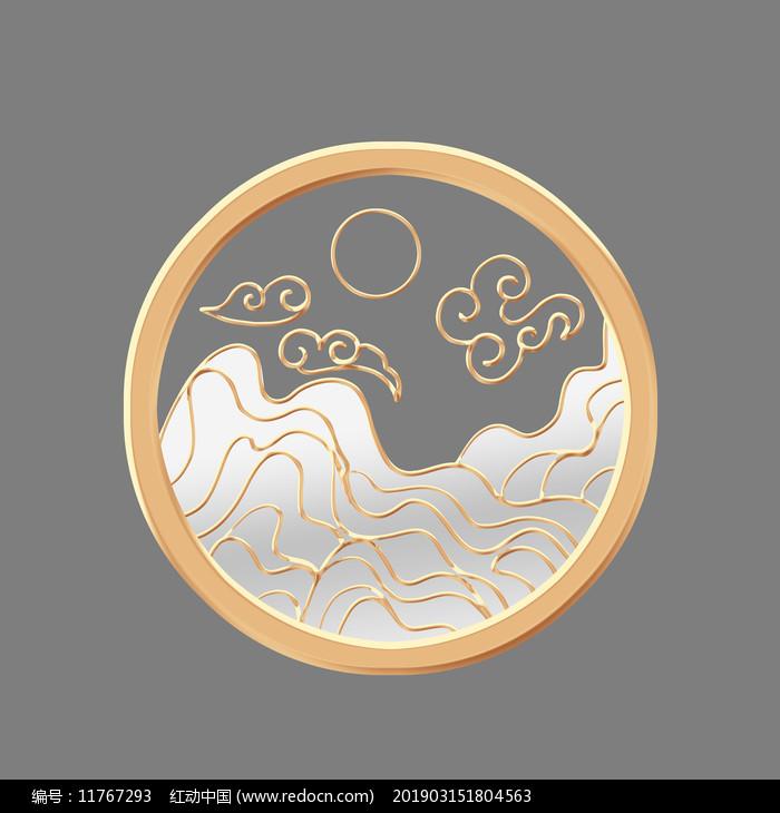 立体珠宝古董山水图片