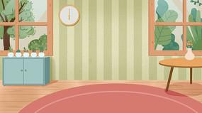 手绘温馨客厅