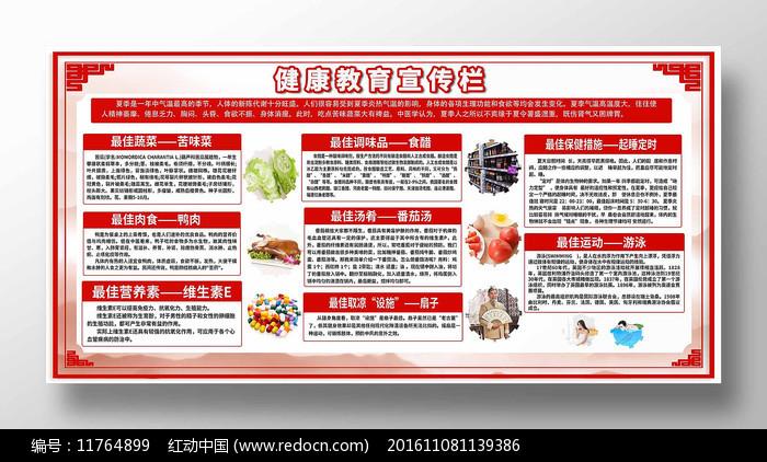 中国风健康教育知识宣传栏图片