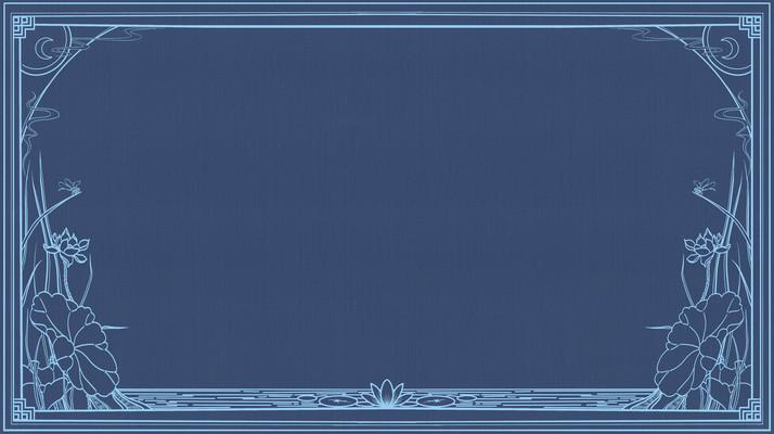 复古画报海报线描主题边框