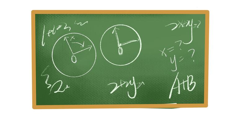 手绘卡通黑板教室免抠