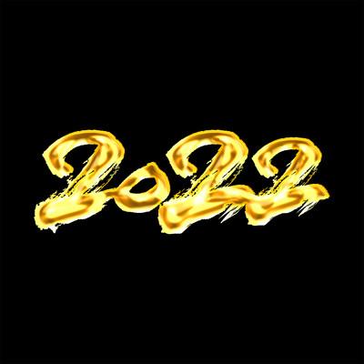 创意2022年书法字体设计