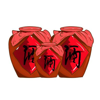 酒罐子手绘