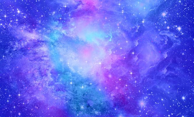 蓝色梦幻唯美星空婚礼背景