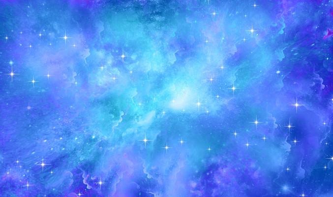 蓝色唯美浪漫星空装饰画背景
