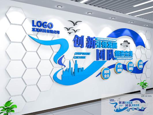 企业文化公司文化奋斗标语文化墙展板
