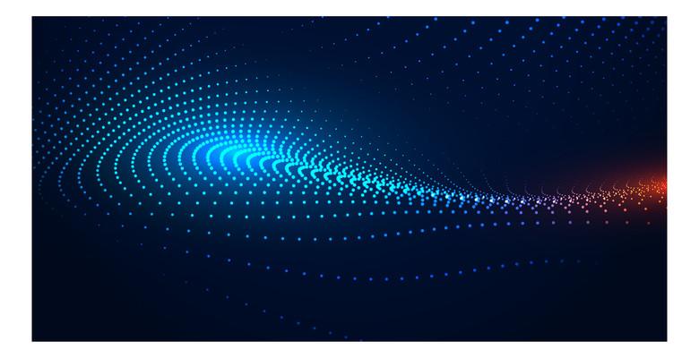 蓝色科技背景图元素
