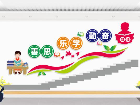 学校楼梯文化墙展板