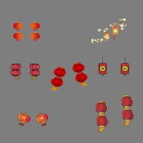 中国传统节日灯笼元素