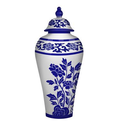 古典花艺陶瓷瓷器青花瓷