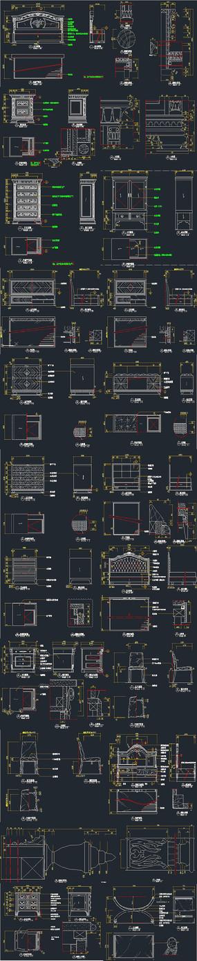 卧室CAD家具图纸