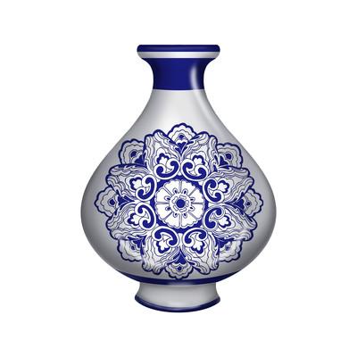 小口酒瓶陶瓷瓷器青花瓷