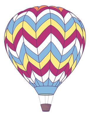 原创手绘热气球元素