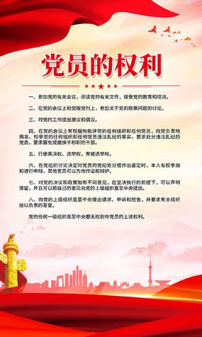 党建党员的权利宣传挂画展板