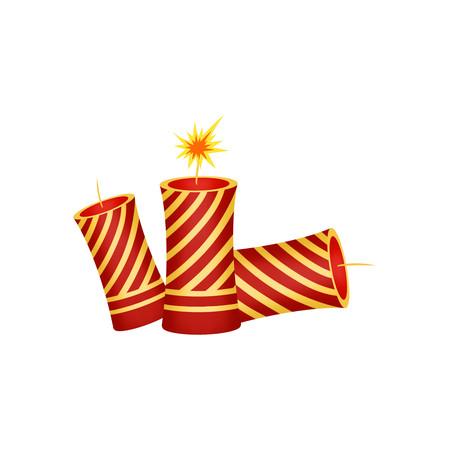 虎年春节鞭炮元素