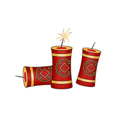虎年春节新年鞭炮元素