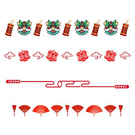 虎年新年春节分割线