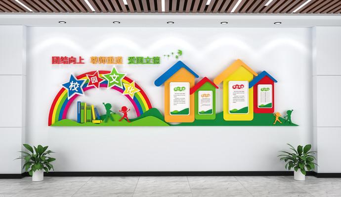 卡通校园文化墙