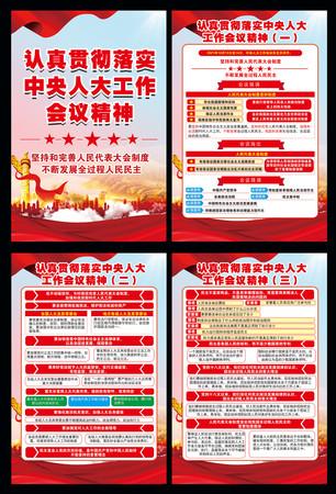 中央人大工作会议精神党建宣传栏展板版面