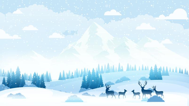立冬冬天小雪冬至风景