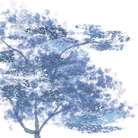 手绘卡通树树木植物树叶免抠