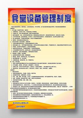 食堂设备管理制度海报
