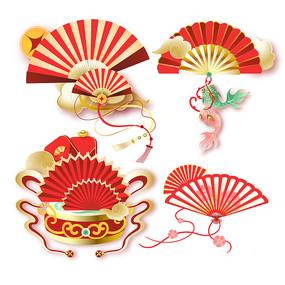 新年春节扇子