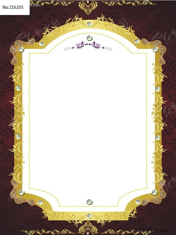 花纹边框矢量图图片