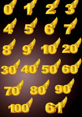 周年庆3D黄金立体数字 PSD