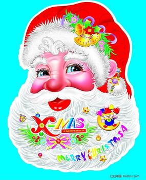 圣诞老人头像psd