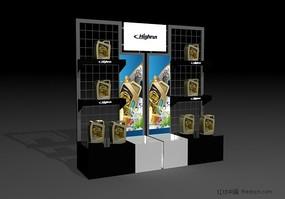潤滑油展柜3d模型