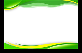 绿色主题展板