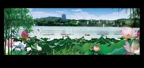 湖水风景图