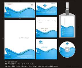 动感风格企业信封信纸cdr设计