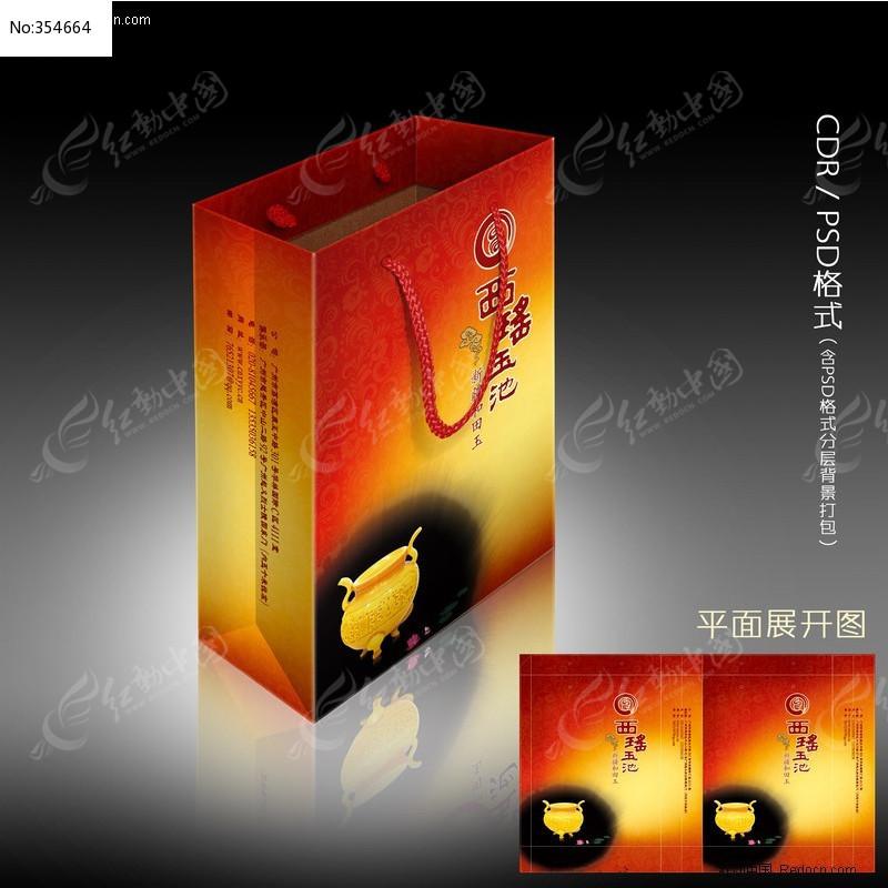 手提袋设计欣赏 礼品袋CDR矢量展开图图片
