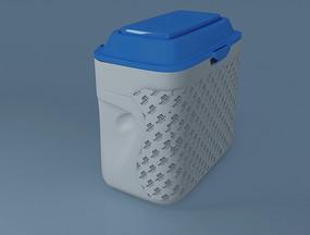 带盖子塑料奶粉桶max模型设计
