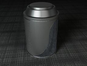 奶粉桶 圆柱形 金属 现代