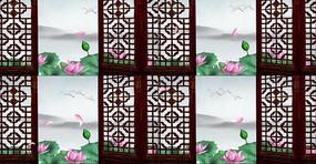 中国风古典观赏荷花池视频素材