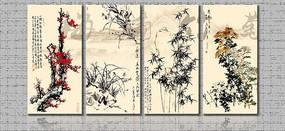 梅兰竹菊画