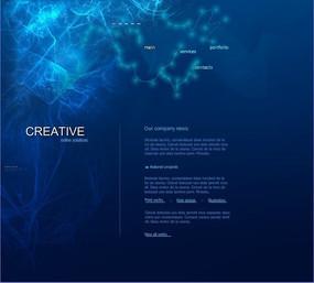 蓝色水波纹flash网站源文件