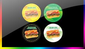 三明治pop贴纸广告 CDR