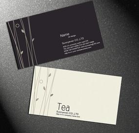 茶叶名片卡片