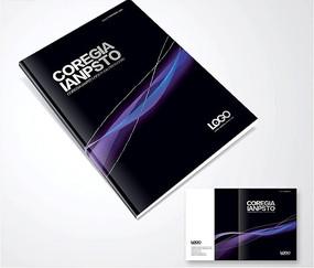 黑色科技画册封面设计PSD分层图
