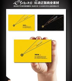 黄色个性设计师名片图片