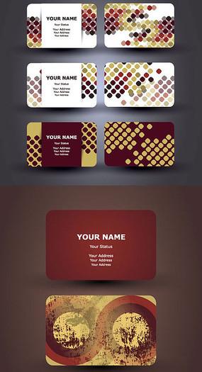 矢量名片卡片模板