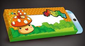 卡通蘑菇水彩颜料盒图片