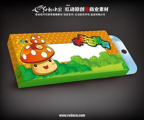 卡通水彩颜料包装盒psd素材