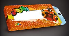 卡通水彩画颜料包装盒素材