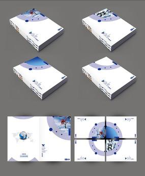 简洁圆环画册封面